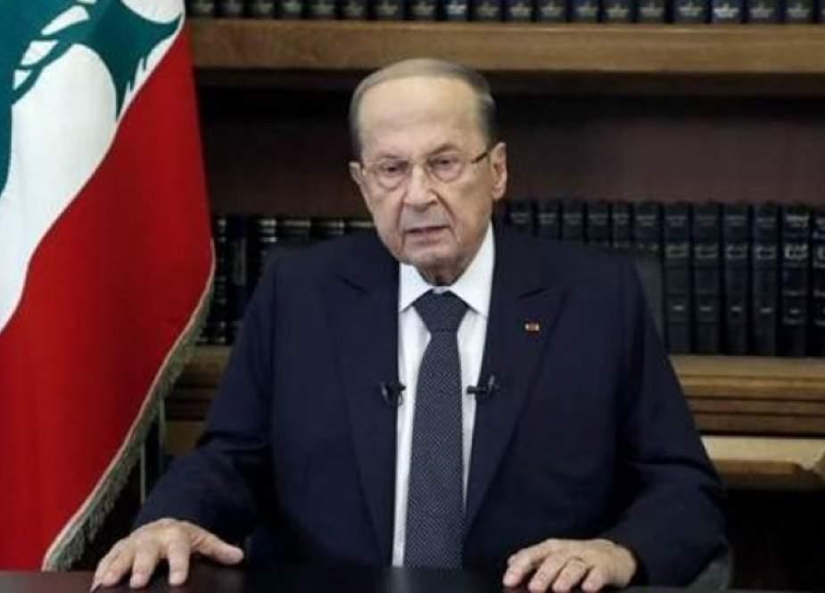 الرئيس اللبناني يتابع حادثة سقوط طائرة التدريب قبالة حالات