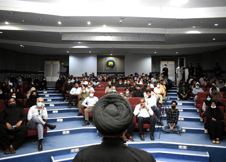 کراچی، جامعہ این ای ڈی میں منعقدہ سالانہ یوم حسینؑ کی تصویری جھلکیاں