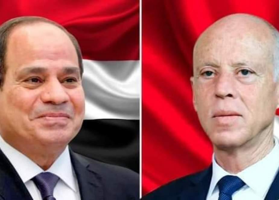 السيسي يهنئ قيس سعيد بتشكيل الحكومة الجديدة