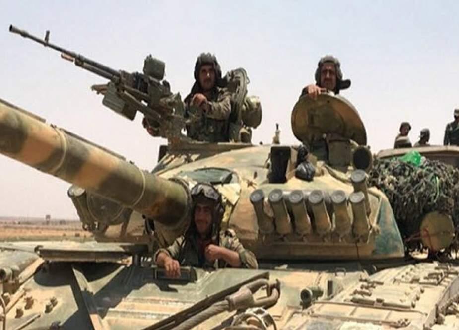 آرایش نظامی ارتش سوریه در شمال حلب برای رویارویی با ارتش ترکیه