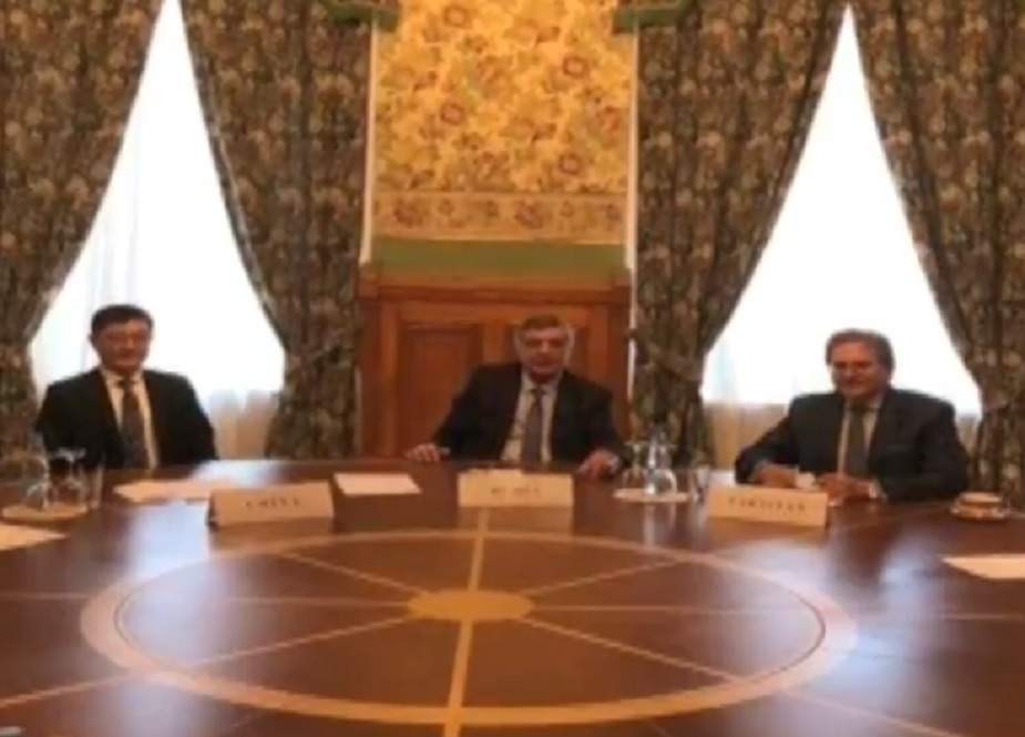 ماسکو، افغانستان کیلئے روس، چین اور پاکستان کے نمائندوں کی ملاقات