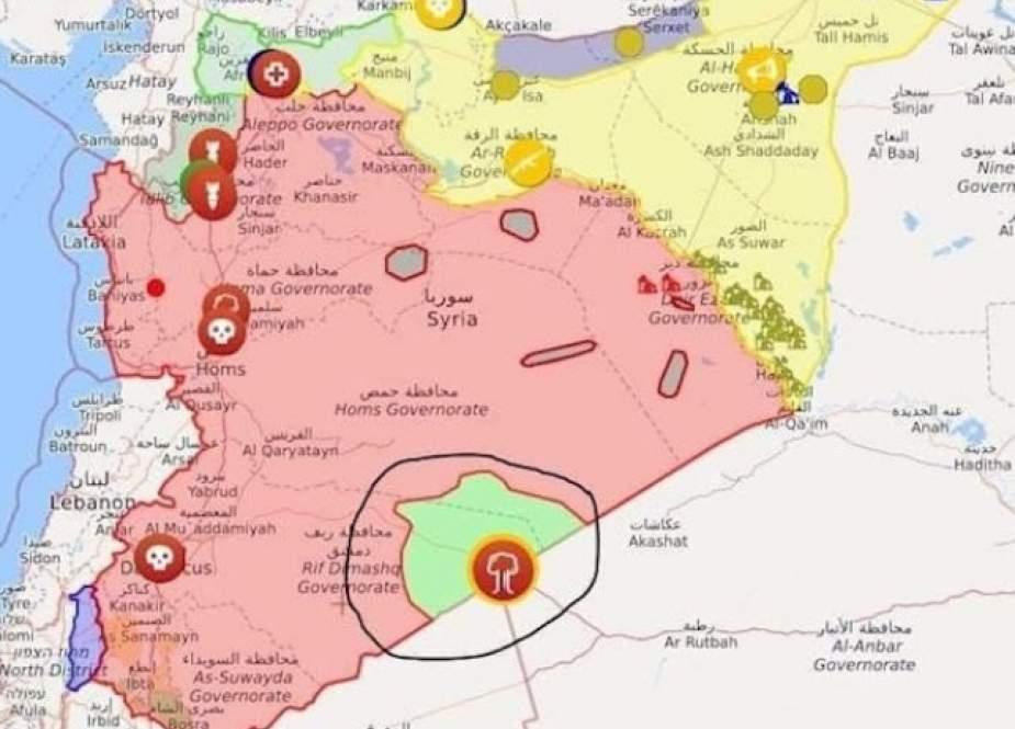 حمله پهپادی به پایگاه نظامی آمریکا در التنف سوریه