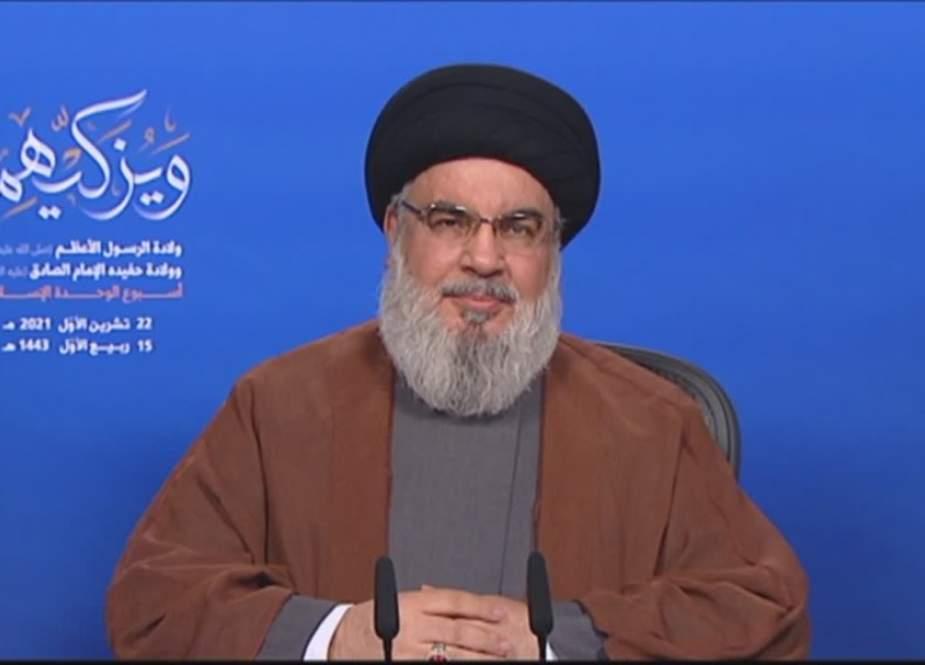 Sayyid Nasrallah: Hizbullah Akan Bertindak pada Waktu yang Tepat terhadap Setiap Pelanggaran Israel terhadap Hak Lepas Pantai Lebanon bahkan di Zona Sengketa